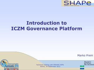 Introduction to  ICZM Governance Platform