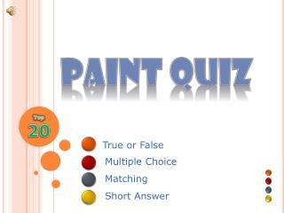 Paint Quiz