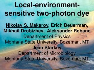 Local-environment-sensitive two-photon dye