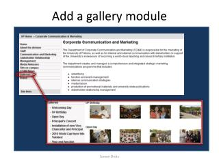 Add a gallery module