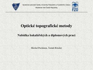 Optické topografické metody