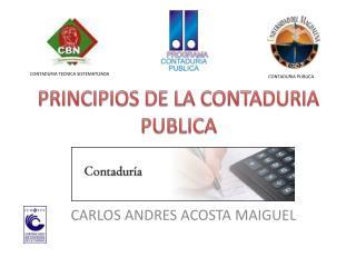 PRINCIPIOS DE LA CONTADURIA PUBLICA