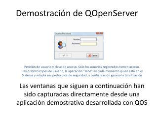 Demostración de QOpenServer