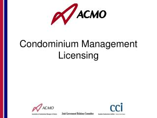 Condominium Management Licensing