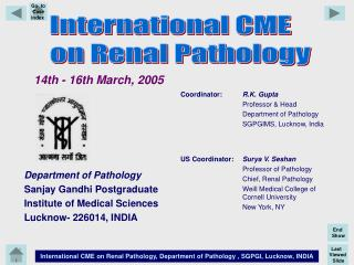 Slide Seminar- IV Pathology of Renal Tumors
