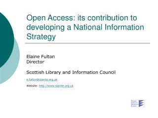 Open Access: its contribution to developing a National Information Strategy