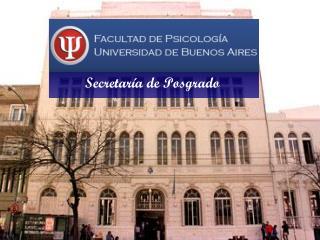 Secretaría de Posgrado