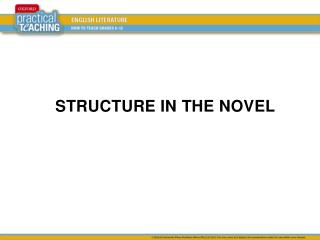 STRUCTURE IN  THE  NOVEL
