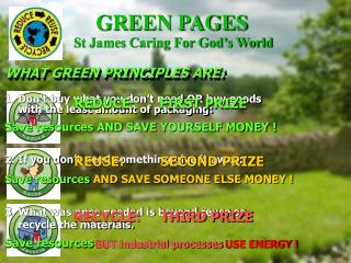 WHAT GREEN PRINCIPLES ARE: