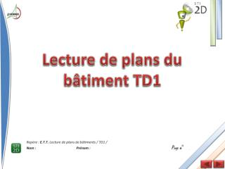 Lecture de plans du bâtiment TD1