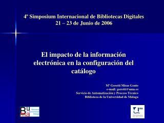 El impacto de la información  electrónica en la configuración del catálogo