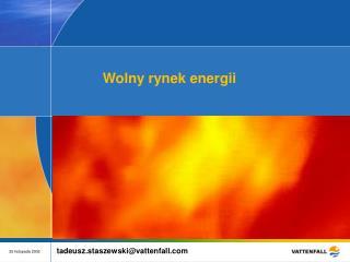 Wolny rynek energii