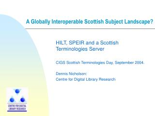A Globally Interoperable Scottish Subject Landscape?