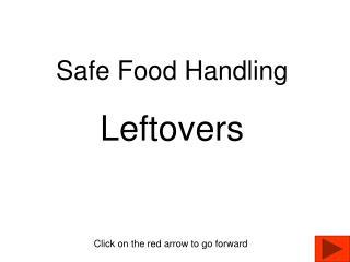 Safe Food Handling Leftovers
