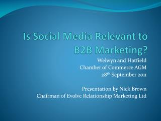 Is Social Media Relevant to  B2B Marketing?