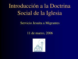 Introducción a la Doctrina Social de la Iglesia
