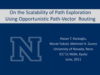 On the Scalability of Path Exploration Using Opportunistic Path-Vector  Routing