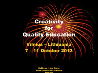 Creativity  for  Quality Education