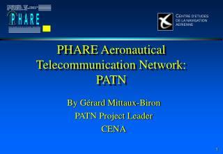 EN - PHARE Aeronautical Telecommunications Network - 914 Kb