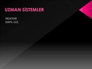 UZMAN S?STEMLER