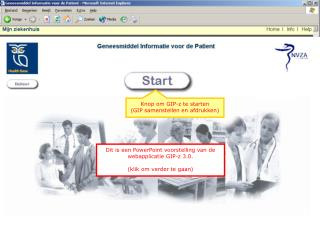 Knop om GIP-z te starten (GIP samenstellen en afdrukken)
