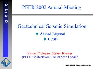 Geotechnical Seismic Simulation