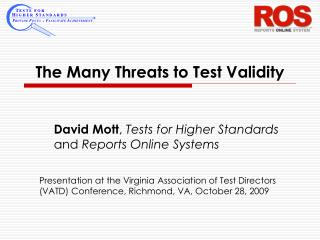 The Many Threats to Test Validity