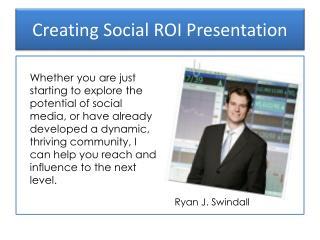 Creating Social ROI Presentation