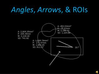 Angles ,  Arrow s, & ROIs