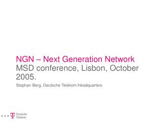 NGN - Next Generation Networks
