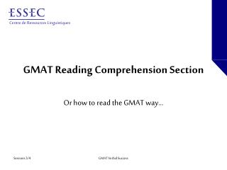 GMAT Reading Comprehension Section