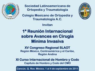 XV Congreso Regional SLAOT Región México, Centroamérica y el Caribe, Región Andina