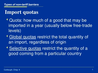 TARIFF RATE QUOTA