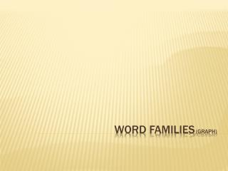 Word Families (Graph)
