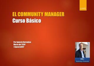 EL COMMUNITY MANAGER Curso Básico