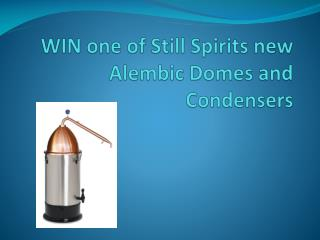 WIN one of Still Spirits new Alembic Domes and Condensers