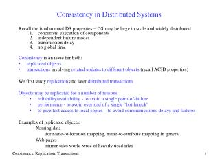 Consistency in Distributed Systems
