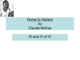 Home to Harlem by Claude McKay