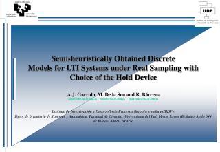 OUTLINE: Objectives    Motivation    Background on Real Sampling   Identification Methods