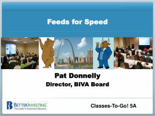 Feeds for Speed