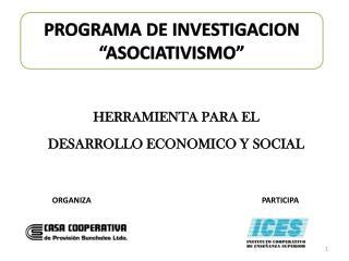 HERRAMIENTA PARA EL DESARROLLO ECONOMICO Y SOCIAL