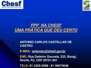 PPP  NA CHESF UMA PRÁTICA QUE DEU CERTO