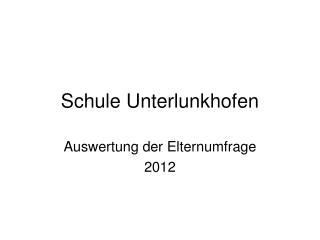 Schule Unterlunkhofen