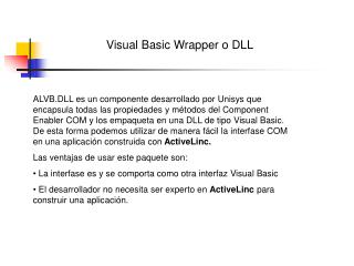 Visual Basic Wrapper o DLL