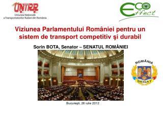Viziunea Parlamentului României pentru un sistem de transport competitiv şi durabil