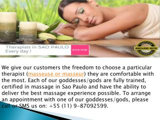 Best massage therapist in sao Paulo | Tantric Massage Sao Pa
