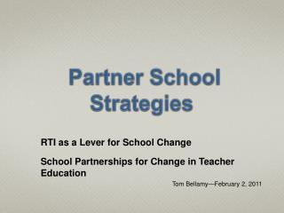 Partner School Strategies
