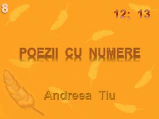 Poezii  cu  numere