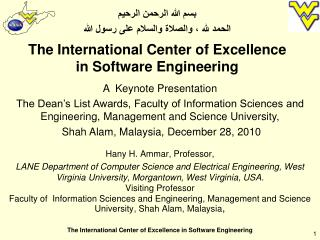The International Center of Excellence in Software Engineering
