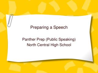 Preparing a Speech